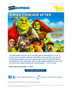 BLOCKBUSTER Express Shrek